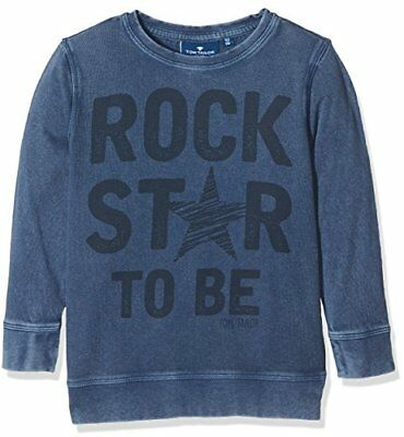 TOM TAILOR Kids Light Pique Mix Sweatshirt, Sudadera para Niños, Azul (Dark Den