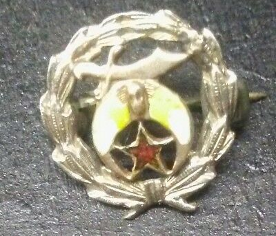 Vintage 14K Yellow White Gold Fraternal Shriners Pin