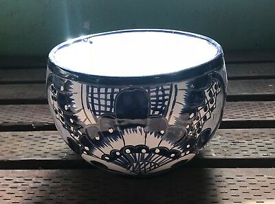 Talavera Planter H-9W-8 Authentic Mexican Pottery Hand Painted Maceta Triangle
