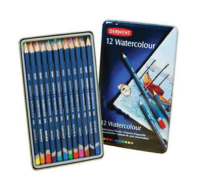 Derwent Watercolour Pencils 12 - Brand New in Tin Case