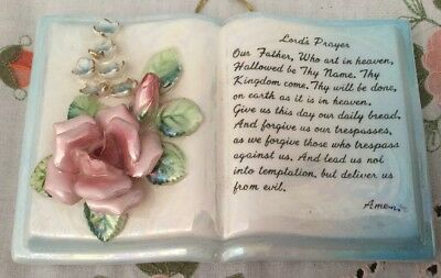 Vintage Lord's Prayer Wall Hanging