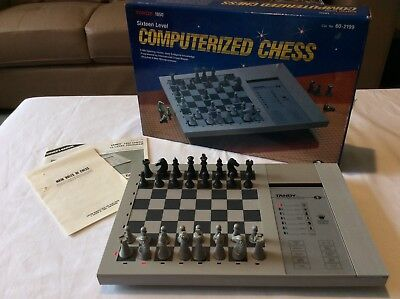 Vintage Antique Retro Realistic Tandy 1850 Computerized Electronic Chess Game