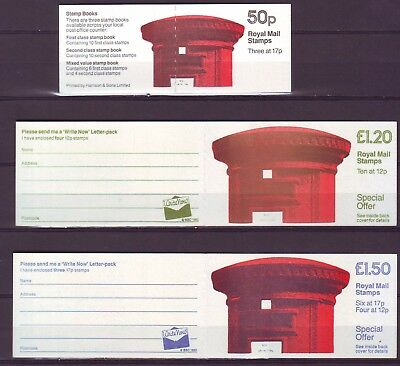 QE II GB 1986 3 Booklets PILLAR BOXES FB31 FP1 FT5 MNH VERY LOW SHIPPING!