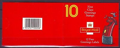 QE II GB 1991 GREETING STAMPS 10 x st CLASS BOOKLET KX3  MNH VERY LOW SHIPPING!