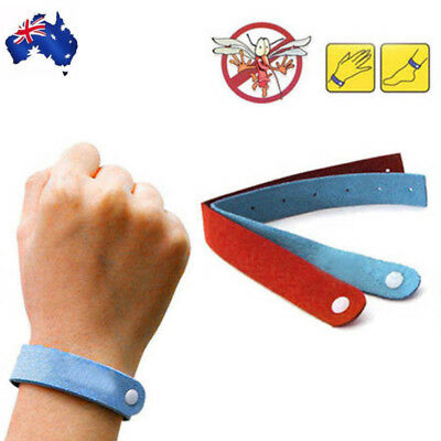 5PC Anti Mosquito Bug Repellent Wrist Band Bracelet Insect Nets Bug Lock
