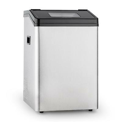 New Power Ice Maker Drinks Cold Chill Commercial Home 8 Kg Storage Steel 450 W