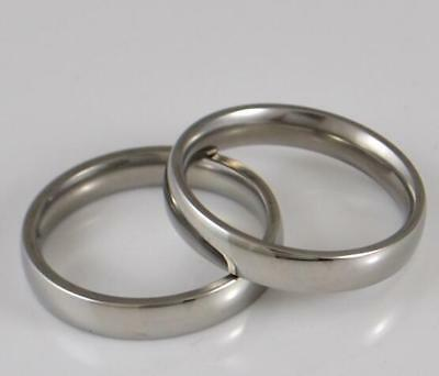 Job lots 100PCS 4mm High Polished Men Women Stainless Steel Jewelry Band Rings