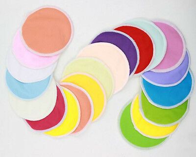 Reusable Candy Color Nursing Pads New Bamboo Pregnant Women's Breast Pads 2Pcs