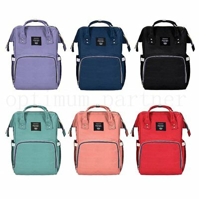 Multifunctional Baby Diaper Nappy Backpack Waterproof Large Changing Mummy Bags