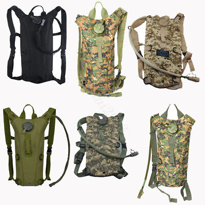 3L Water Bladder Bag Hydration Backpack Outdoor Military Hiking Climbing Running