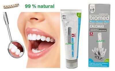 BioMed Toothpaste CALCIMAX 99 %NATURAL,FREE Paraben,FREE Fluorid,100 g