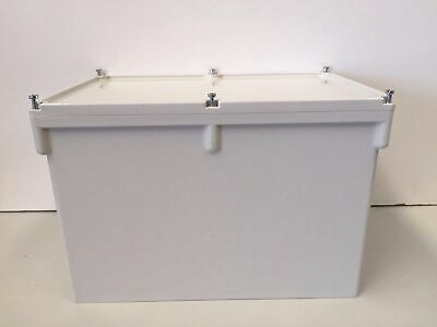 Clipsal Junction Box 265/7D Grey with Gasket PVC Lid 300 x 200 x 200 mm IP56