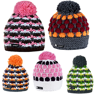 Kids Girl Boy Winter Beanie Hat Children Knitted Girls Boys Hats Worm Ski Batty