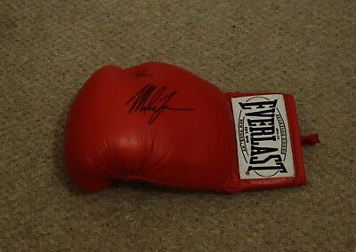 Mike Tyson Autographed Everlast Boxing Glove & COA - Hand Signed