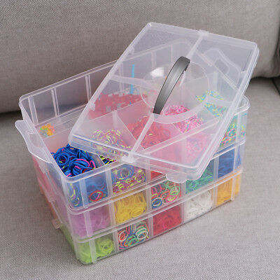LOOM BANDS 7500 Piece Luxury Rubber Looms Kit Colourful Deluxe DIY Tool Set