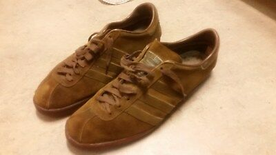 Seldom Found Original Vintage ADIDAS TOBACCO Sneakers Made In France 10
