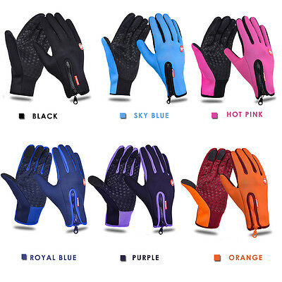 Touchscreen Winter Warm Cycling Bicycle Bike Ski Silica Waterproof Gloves Hiking