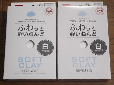 daiso japan Soft clay Lightweight Modeling Air Dry samon White f/s 2set