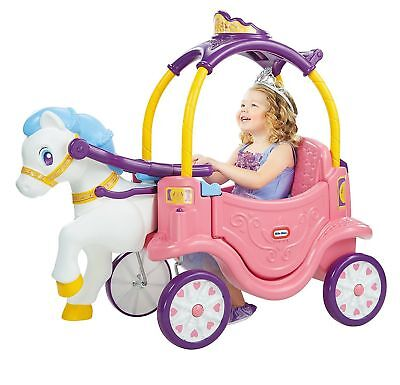 Brand New Sealed Little Tikes 2 in 1 Princess Horse and Carriage  -GENUINE UK