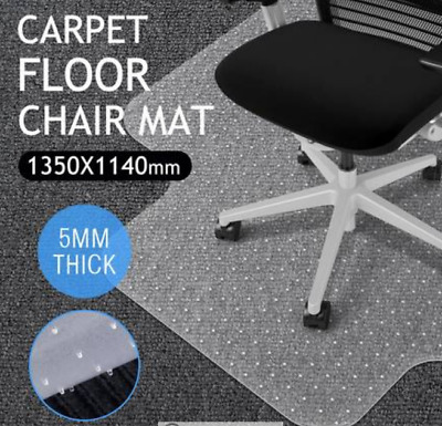 New Hard Floor Chair Mat Thick Vinyl Protect Plastic Office Work 135 x 114cm