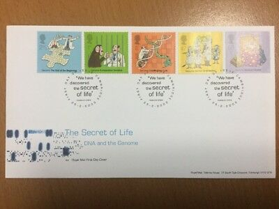 2003 Royal Mail DNA & the Genome First Day Cover Cambridge FDI Postmark