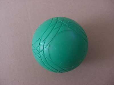 1 USED Plastic Boule Green Heavy Ball Shaped Toy