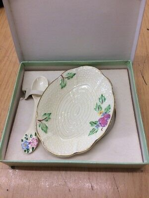 1940s Art Deco CROWN DEVON Boxed Jam dish and spoon