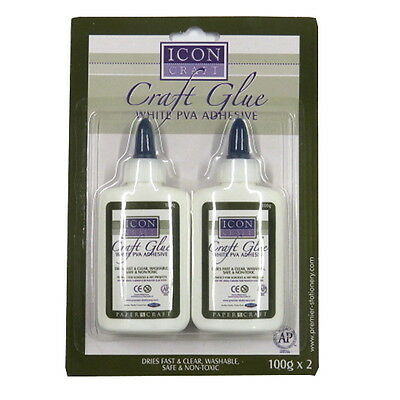 Icon Craft Glue, White PVA Adhesive - Pack of 2
