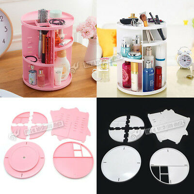 360° Rotating Cosmetic Box Makeup Acrylic Powder Organizer Display Rack DIY Xmas