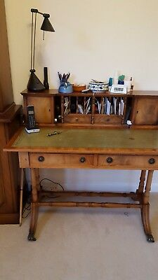 Reproduction Georgian Style Walnut Writing Desk