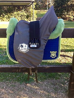 Philippe Fontaine Black Leather Dressage Saddle 17.5 Excellent Condition
