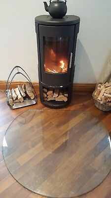 Truncated Glass Hearth Great for Log Burners Stylish Modern