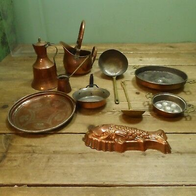 Job Lot of Fireside Cooking Pans and Jugs