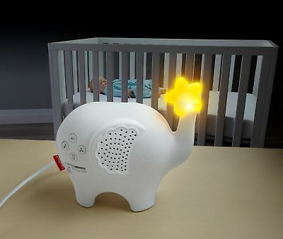 FisherPrice Baby Sleep Soother White Noise Night Light Elephant Musical Crib Toy