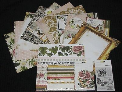 "Kaisercraft 'TREASURED MOMENTS' 12x12"" Complete Paper Pk Floral/Flowers KAISER"