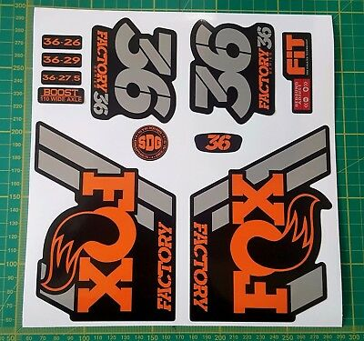 Fox 36 2018 in Orange and Grey Replacement Fork Decals Stickers