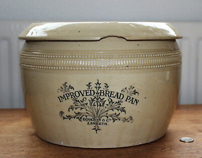 Victorian Doulton & Co Improved Bread Pan Kitchen Plant Pot
