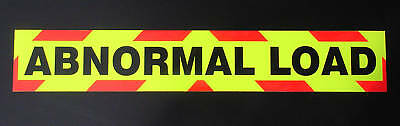Abnormal Load Fluorescent Magnetic Warning Sign