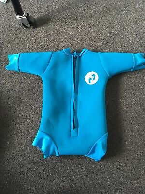Boys Blue Bare Foot Swimming All In One 3-6 Months