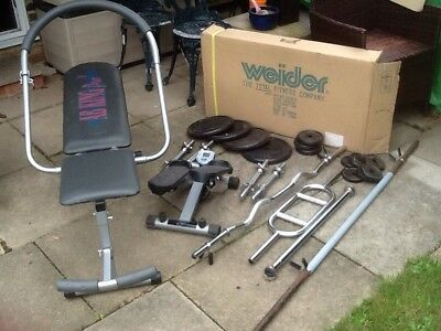 Home Weight lifting Workout Bundle With Bench, Chin Up Bar And Step Machine
