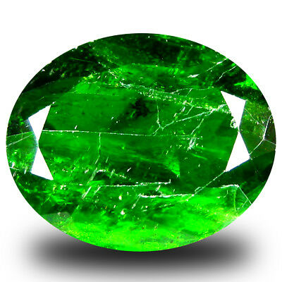 10.79 ct  Supreme Oval Shape (16 x 14 mm) Green Chrome Diopside Natural Gemstone