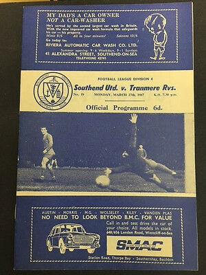 27/03/1967, Southend United v Tranmere Rovers, Division 4