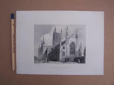 Worcester Cathedral prints x 5 - approx date 1835 - various sized book plates