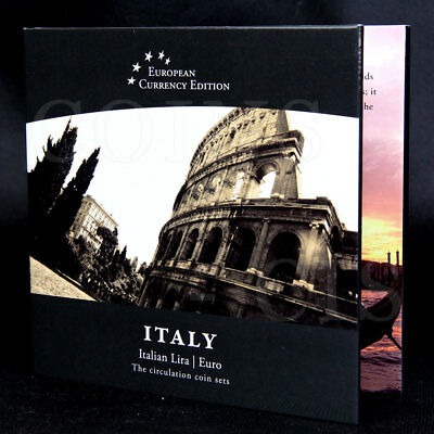 European Currency ITALY Italian Lira /  Euro The Circulation Coin Sets