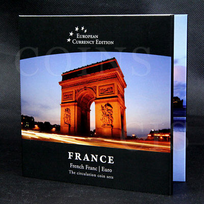 European Currency FRANCE French Franc /  Euro The Circulation Coin Sets