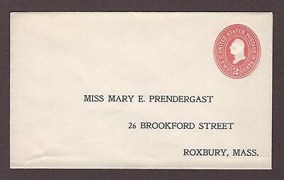 mjstampshobby 1899 US Famous Miss Mary E Prendergast Vintage Cover Unused