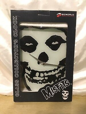 Misfits Glass Wall Clock Extremely Rare Collectible NIB