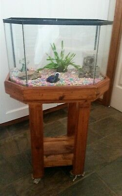Lovely fish tank with baltic pine stand