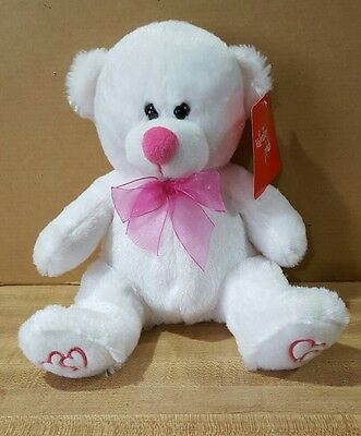 Valentine Bear Super Soft Plush ~ Best Made Toys 10""