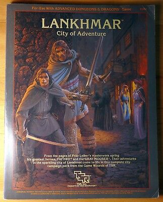 AD&D Lankhmar City of Adventure TSR 9162 + map